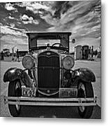1931 Model T Ford Monochrome Metal Print