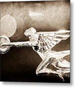 1932 Packard 12 Convertible Victoria Hood Ornament Metal Print
