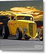 1933 Ford Hiboy Coupe Metal Print