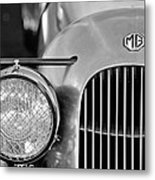 1934 Mg Pa Midget Supercharged Special Speedster Grille Metal Print by Jill Reger