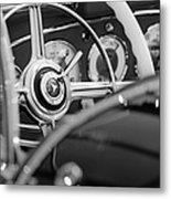 1936 Mercedes-benz 540 Special Roadster Steering Wheel Metal Print