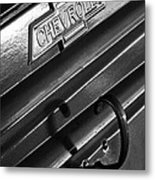 1937 Chevrolet Custom Pickup Emblem Metal Print by Jill Reger