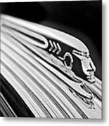 1937 Pontiac Chief Custom Hood Ornament Metal Print