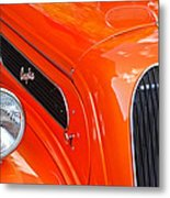 1948 Anglia 2-door Sedan Grille Emblem Metal Print