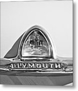1948 Plymouth Deluxe Emblem Metal Print