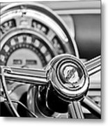 1949 Chrysler Town And Country Convertible Steering Wheel Emblem Metal Print