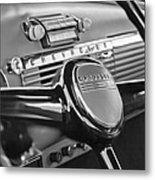 1950 Chevrolet 3100 Pickup Truck Steering Wheel Metal Print