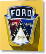 1950 Ford Custom Deluxe Station Wagon Emblem Metal Print