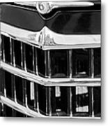 1950 Willys Jeepster Grille Emblem Metal Print