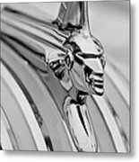1951 Pontiac Streamliner Hood Ornament Metal Print by Jill Reger