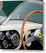 1953 Ferrari 340 Mm Lemans  Spyder Steering Wheel Emblem Metal Print