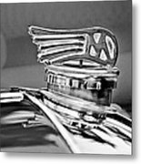 1953 Morgan Plus 4 Le Mans Tt Special Hood Ornament Metal Print