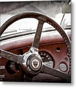 1954 Jaguar Xk120 Roadster Steering Wheel Emblem Metal Print