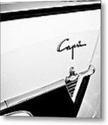 1954 Lincoln Capri Convertible Emblem Metal Print