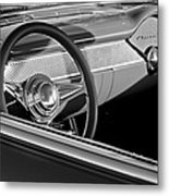 1955 Chevrolet 210 Steering Wheel Metal Print