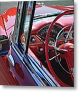 1955 Chevrolet Belair Steering Wheel Metal Print