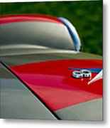 1955 Fiat 8v Zagato Hood Emblem Metal Print
