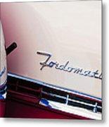 1955 Ford Crown Victoria Fordomatic Emblem Metal Print