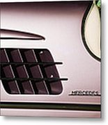 1955 Mercedes-benz Gullwing 300 Sl Emblem Metal Print