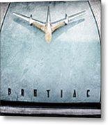 1955 Pontiac Safari Hood Ornament - Emblem Metal Print