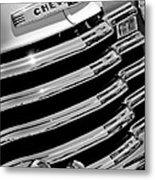 1956 Chevrolet 3100 Pickup Truck Grille Emblem Metal Print