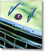 1956 Hudson Rambler Station Wagon Grille Emblem - Hood Ornament Metal Print