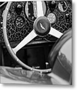 1957 Aston Martin Dbr2 Steering Wheel Metal Print by Jill Reger