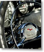 1957 Chevrolet Belair Steering Wheel Metal Print