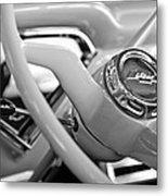 1957 Chevrolet Cameo Pickup Truck Steering Wheel Emblem Metal Print