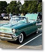 1957 Chevy Bel Air Green Metal Print
