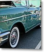 1957 Chevy Bel Air Green Right Side Metal Print