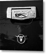 1957 Ford Custom 300 Series Ranchero Emblem Metal Print