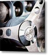 1958 Chevrolet Corvette Steering Wheel Emblem Metal Print