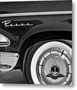 1958 Edsel Pacer Wheel Emblem Metal Print