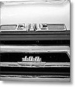 1958 Gmc Series 101-s Pickup Truck Grille Emblem Metal Print