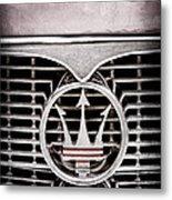 1958 Maserati Hood - Grille Emblem Metal Print
