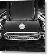 1959 Chevy Corvette Convertible Bw  Metal Print
