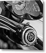 1959 Fiat Bianchina Semi-convertible Series II Steering Wheel Metal Print