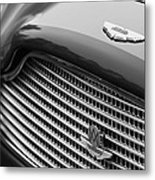 1960 Aston Martin Db4 Gt Coupe' Grille Emblem Metal Print