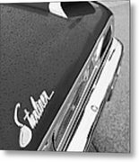 1960 Ford Galaxie Starliner Taillight Emblem Metal Print by Jill Reger