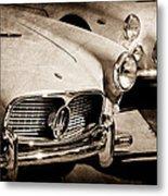 1960 Maserati Grille Emblem Metal Print by Jill Reger