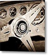 1960 Maserati Steering Wheel Emblem Metal Print