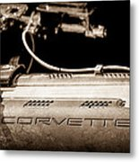 1961 Chevrolet Corvette Engine Metal Print