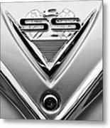 1961 Chevrolet Ss Impala Emblem Metal Print