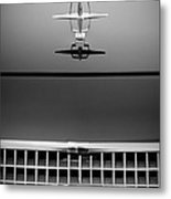 1961 Lincoln Continental Hood Ornament Metal Print