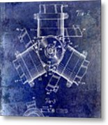 1961 Propeller Patent Drawing Metal Print