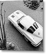 1963 Chevrolet Corvette Split Window -440bw Metal Print
