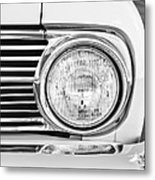 1963 Ford Falcon Futura Convertible Headlight - Hood Ornament Metal Print by Jill Reger
