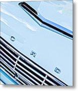 1963 Ford Falcon Futura Convertible Hood Emblem Metal Print