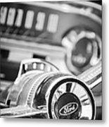 1963 Ford Falcon Futura Convertible Steering Wheel Emblem Metal Print